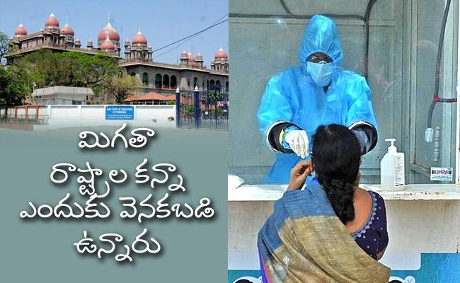 High Court Questions TS Government Over Corona Tests - Sakshi