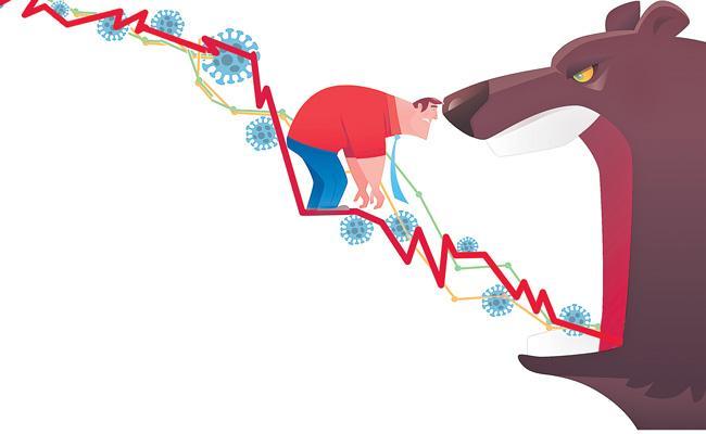 Sensex tanks 1,115 points on fears of bigger Covid hit - Sakshi
