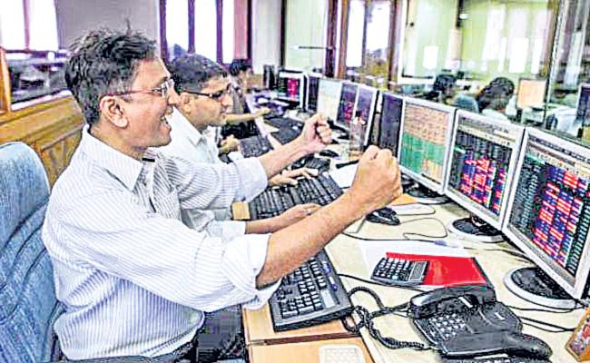 Sensex jumps 835 points Nifty above 11,000 - Sakshi