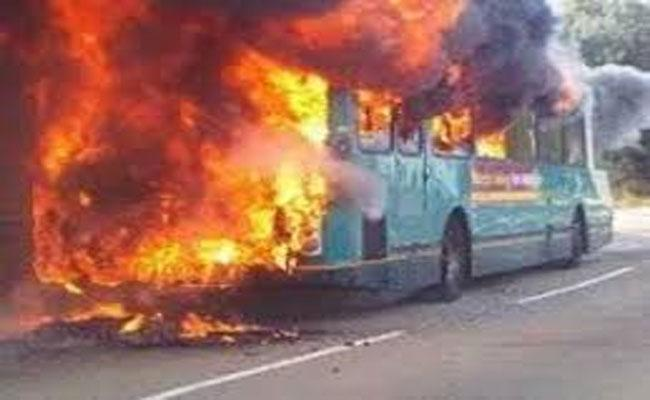Passenger Bus Catches Fire In Pakistan 13 Deceased - Sakshi