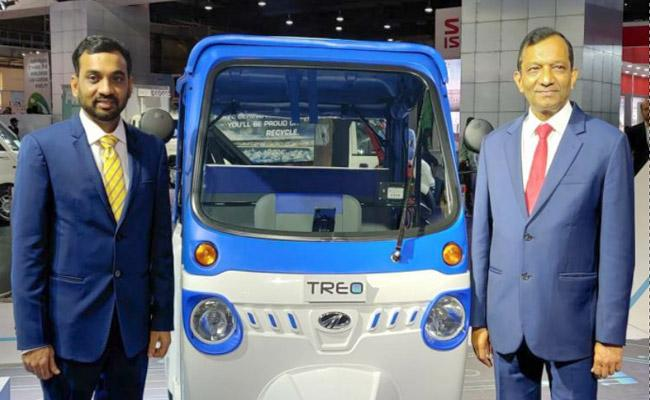 All New Mahindra Trio Electric Auto Launched - Sakshi