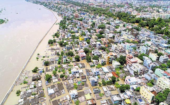 Krishna Floods That Hit The Capital Amaravati Region - Sakshi
