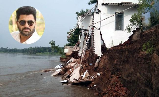 Hero Sharwanand Grandfather House In Flood Water - Sakshi