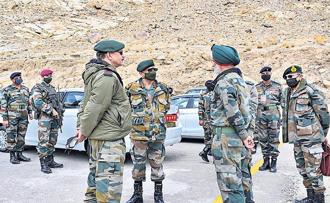 Army chief in Ladakh to review ops amid tension with China - Sakshi