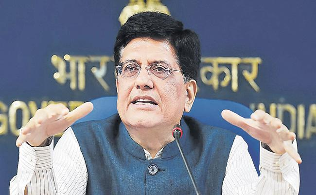 Exports and imports are showing positive trends says Piyush Goyal - Sakshi