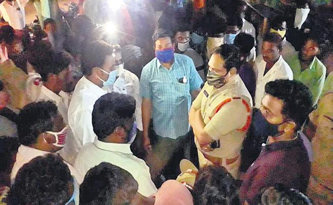 In Charge SI And ASI Hits On a Dalit Man In East Godavari - Sakshi