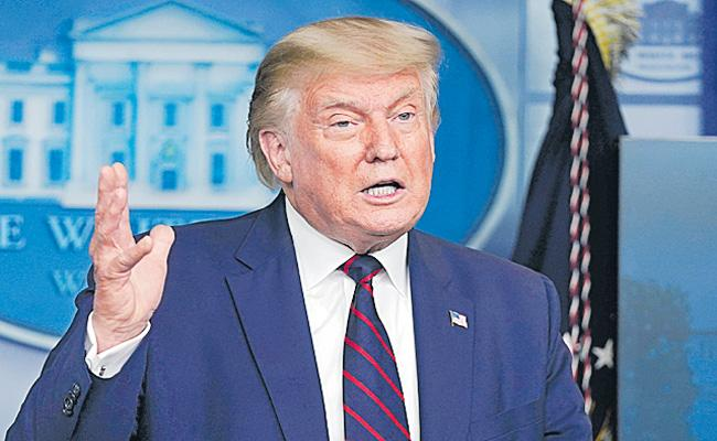 Indian Americans would be voting for me says Donald Trump - Sakshi