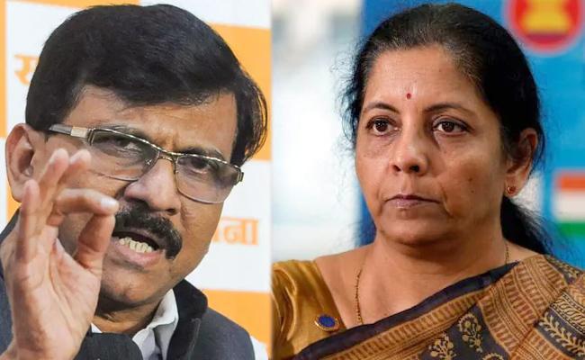 Sanjay Raut Criticises Nirmala Sitharamans Act Of God Remark - Sakshi