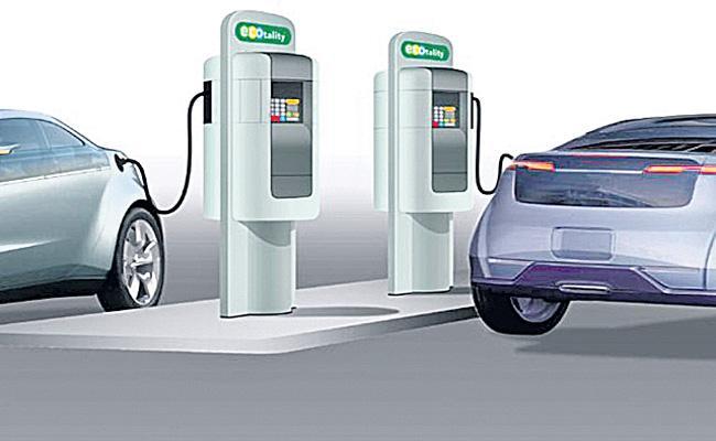 Electric Vehicle charging facility at all petrol pumps - Sakshi