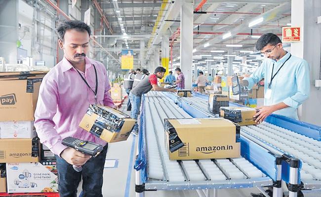 Amazon India 1 lakh seasonal job opportunities ahead of festive season - Sakshi
