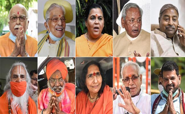 All acquitted in Babri Masjid demolition case - Sakshi