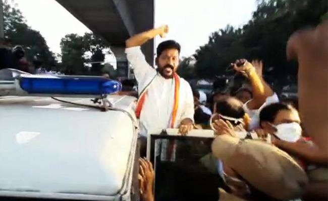 T Congress Leaders Protest Against Rahul Gandhi Arest   - Sakshi