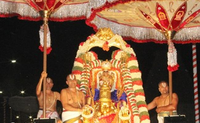 Today Pournami Garuda Seva In Tirumala - Sakshi