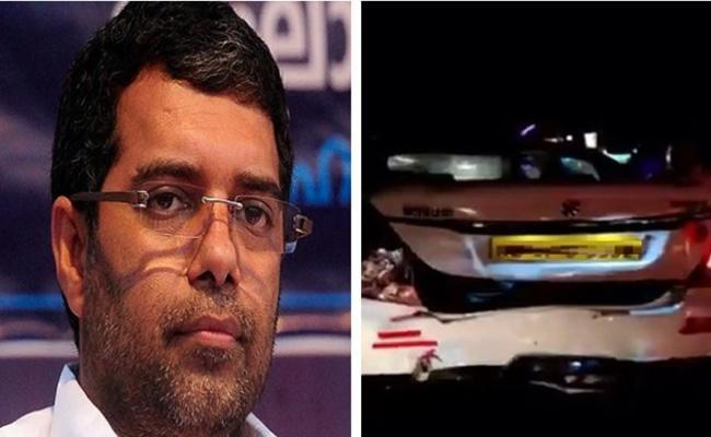 BJP National Vice President Abdullah Kutty Vehicle Hit by lorry - Sakshi