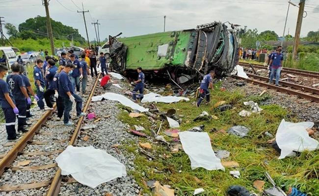 Bus Accident At Thailand - Sakshi