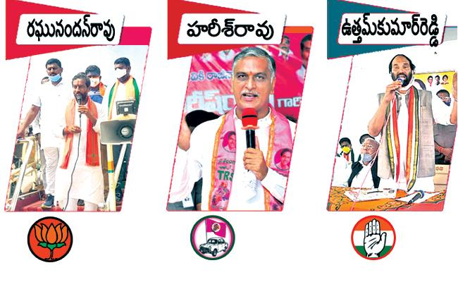 Congress And BJP Focus On Harish Rao In Dubbaka Election Campaign - Sakshi
