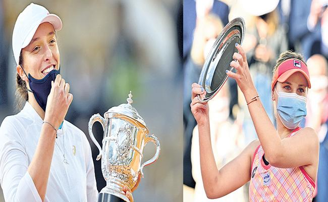 Iga Swiatek Steamrolls Sofia Kenin to Win the French Open - Sakshi