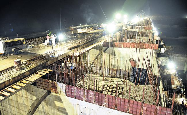Construction work on the Polavaram project is in full swing - Sakshi