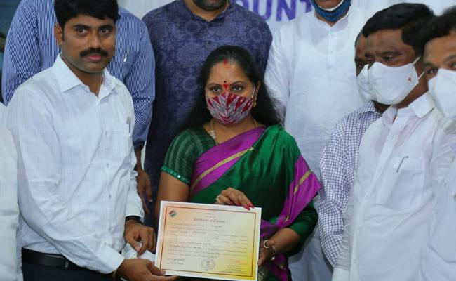 Kavitha Extents Thanks To Nizamabad Voters In MLC Victory - Sakshi
