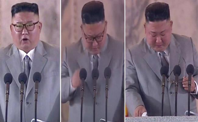 Kim Jong Un Apology To North Koreans And Wipes Away Tears - Sakshi