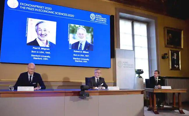 Paul R Milgrom Robert B Wilson win Nobel Prize in economics - Sakshi