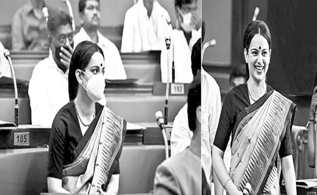 Kangana Ranaut wraps Thalaivi schedule - Sakshi