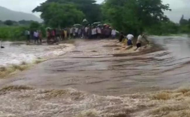 Heavy Rainfall Hits Krishna District In Andhra Pradesh - Sakshi