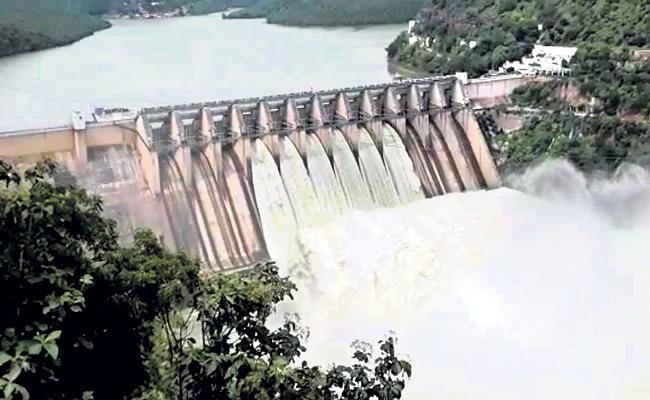 Rising flood again in Krishna river - Sakshi