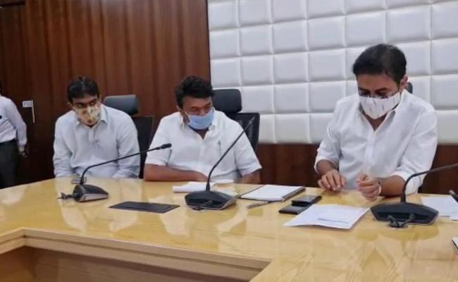 Minister KTR Review Meeting On Hyderabad Floods - Sakshi