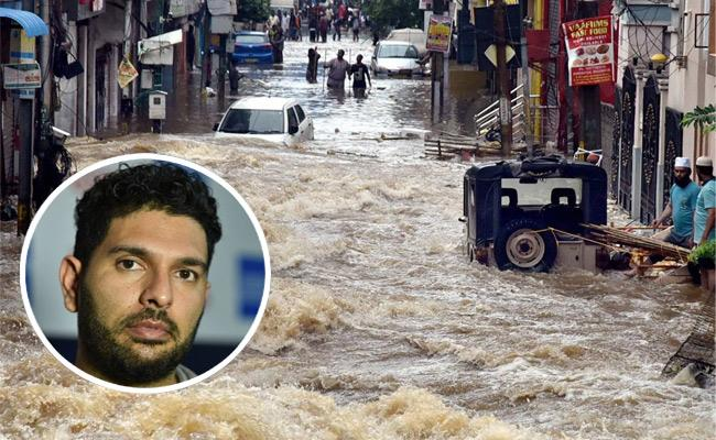Hyderabad Rains : Yuvraj SIngh Tweets About Heavy Rains In Telanagana - Sakshi
