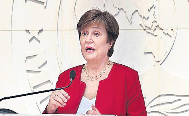 India Must Focus on Public Health Says IMF MD Kristalina Georgieva - Sakshi
