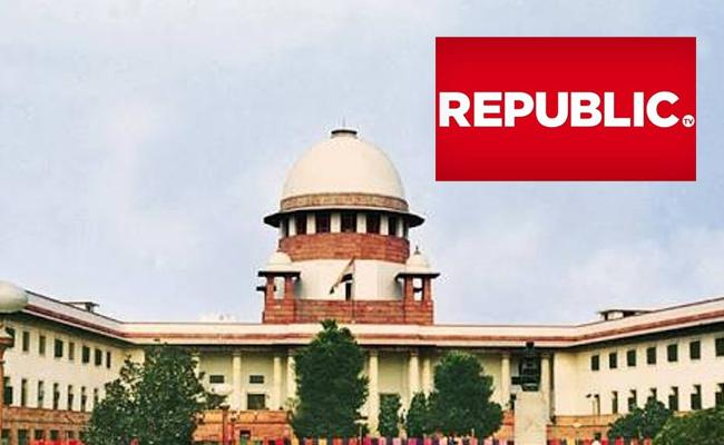 Supreme Court asks Republic TV to approach Bombay High - Sakshi
