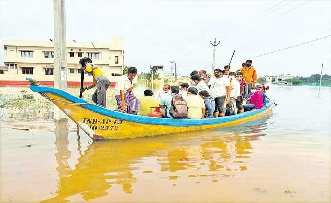 AP Districts Are Recovering From Heavy Rains Caused By Cyclone - Sakshi