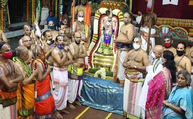 second day of Srivari Navaratri Brahmotsavam - Sakshi