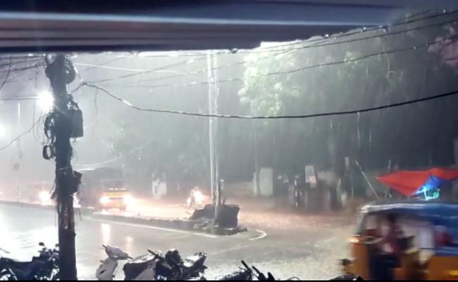 Heavy Rains In Some Parts Of Hyderabad Again On Saturday - Sakshi