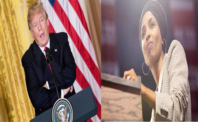 Donald Trump Comments On Ilhan Omar Over Her Marriage And Immigrants - Sakshi
