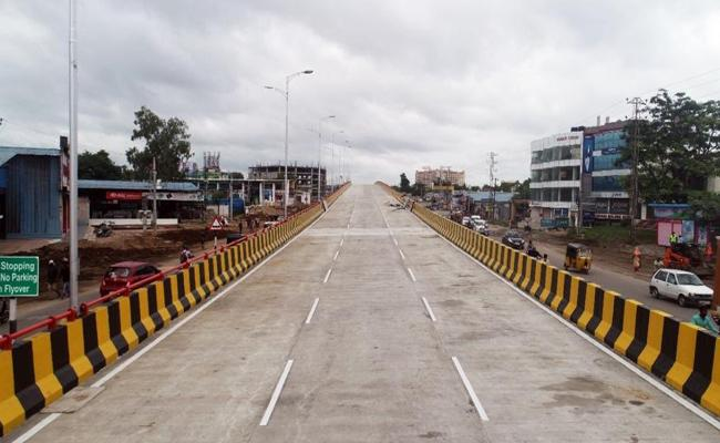 Bihar Minister Shares Hyderabad Fly Over Image As Bihar Flyover - Sakshi