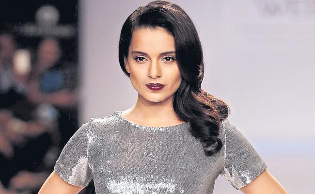 Bollywood Queen Kangana appeared in action mode - Sakshi