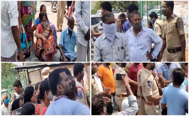 People Protest Against Sabitha Indra reddy At Maheshwaram - Sakshi