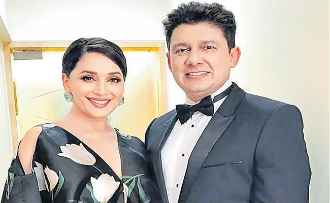 Madhuri Dixit And Shriram Nene Celebrate 21 Years Of Marriage - Sakshi