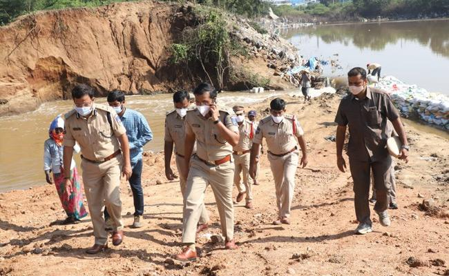 Cyberabad CP Sajjanar Visits Gaganpahad lake And Appa Cheruvu - Sakshi