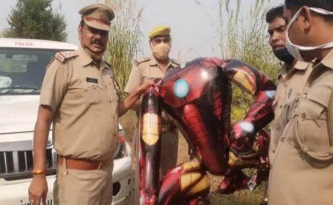 Iron Man Shaped Balloon Scared Noida People - Sakshi