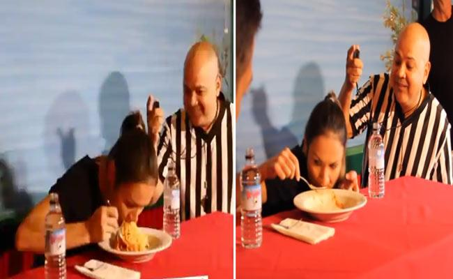 Women Eat 100 Grams Pasta In 27 Seconds And Creates GWR - Sakshi