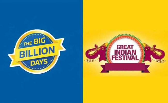 Amazon And Flipkart Huge Sale In Big Billion Day - Sakshi