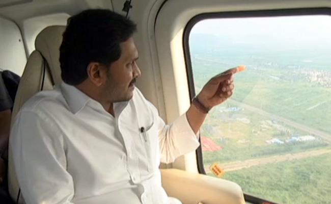 CM YS Jagan Aerial Survey Flood Hit Areas Krishna Guntur Districts - Sakshi