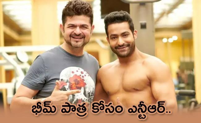 Jr NTR Shirtless Picture Goes Viral For Bheem from RRR - Sakshi