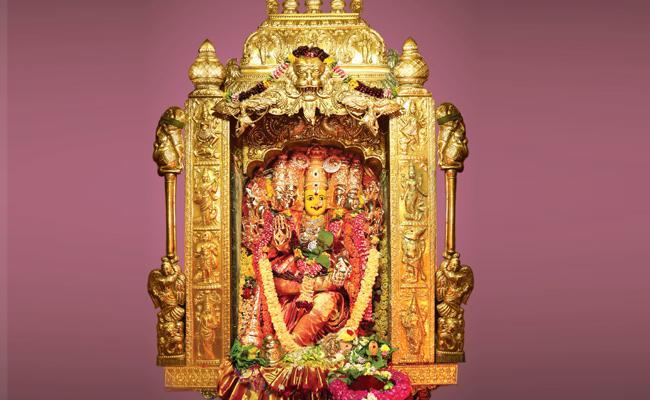 Kanaka Durga Temple: 2nd Day In Gayatri Devi Darshan - Sakshi