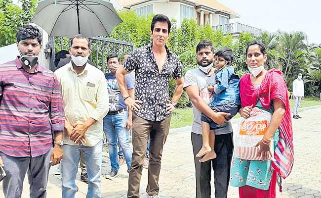 Sonu Sood Helped A Boy Who Is Suffering With Lung Problems From Mahabubabad - Sakshi