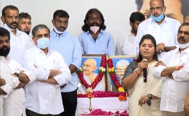 Gandhi And Lal Bahadur Shastri Birthday Celebrations At YSRCP Party Office - Sakshi
