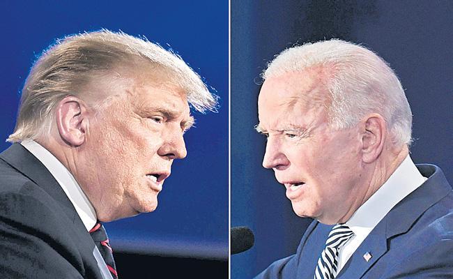 Donald Trump and Joe Biden clash in chaotic first debate - Sakshi